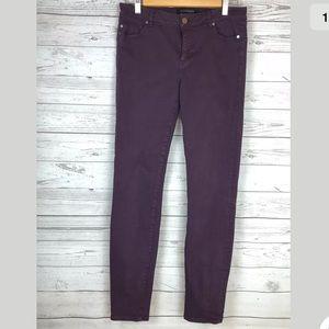 Liverpool jeans sz 8/29 burgundy skinny stretch